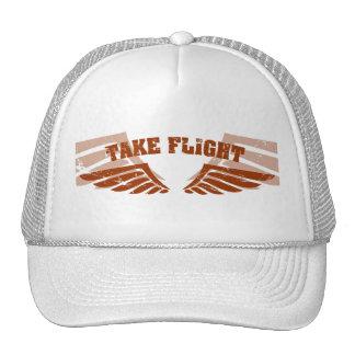 Take Flight Aviation Wings Hats