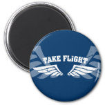 Take Flight Aviation Wings Fridge Magnets