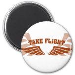 Take Flight Aviation Wings Magnet