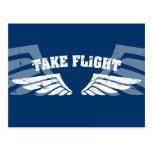Take Flight Aviation Wings Postcard
