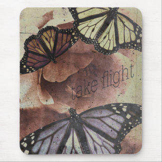 take flight {collage love mouse mat