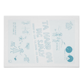 Take hand about yourself statement poster