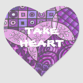 """Take Heart"" Stickers"