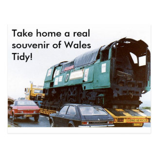 Take home a real souvenir of Wales Postcard