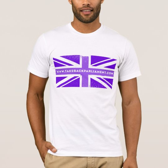 Take it Back flag, men's white t-shirt