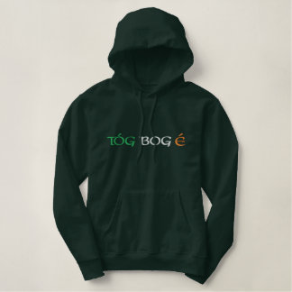 """Take it easy"" Irish Gaelic Flag Colors Hoodie"
