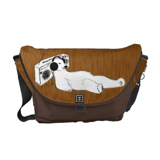 take it easy polar bear stereo commuter bags