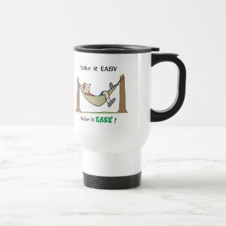 Take It Easy ~ Relaxing In A Hammock Travel Mug