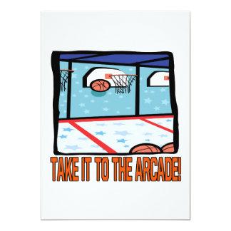 Take It To The Arcade 13 Cm X 18 Cm Invitation Card