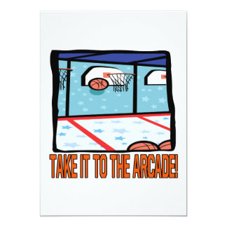 Take It To The Arcade Personalized Invites