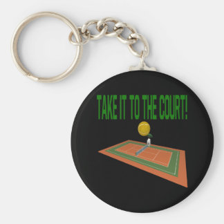 Take It To The Court Basic Round Button Key Ring