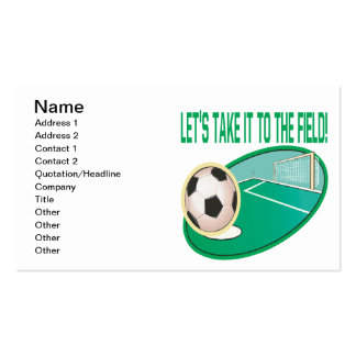 Take It To The Field Pack Of Standard Business Cards