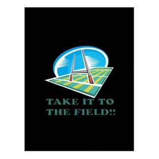Take It To The Field Postcard