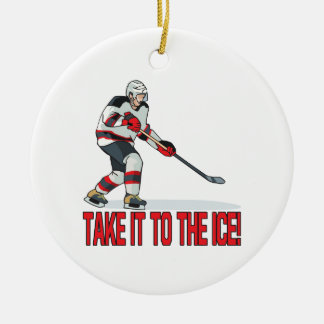 Take It To The Ice Christmas Ornament