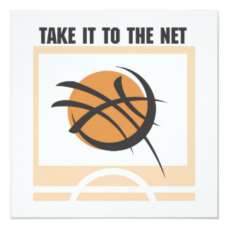 Take it to the Net T-shirts and Gifts 13 Cm X 13 Cm Square Invitation Card