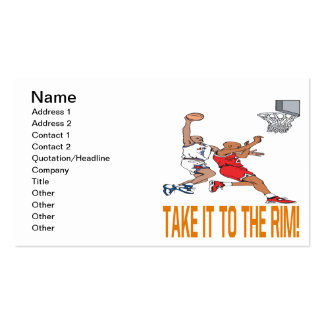Take It To The Rim Business Card Template