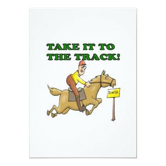 Take It To The Track 13 Cm X 18 Cm Invitation Card