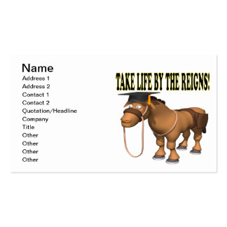 Take Life By The Reigns Pack Of Standard Business Cards