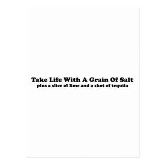 Take Life With A Grain Of Salt... Postcard