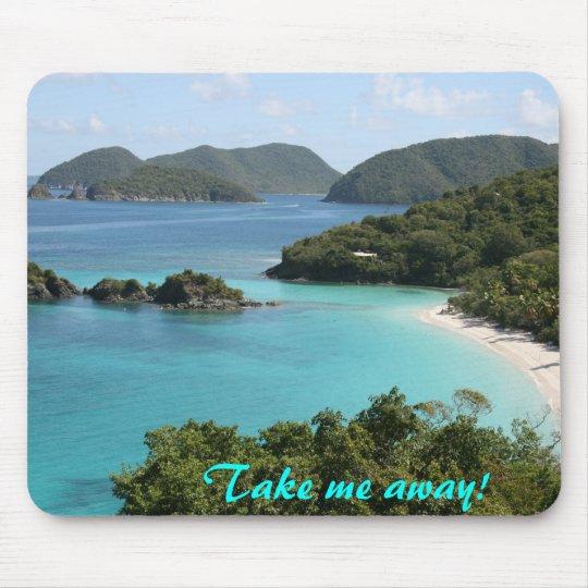Take me away to Trunk Bay!! Mouse Mat