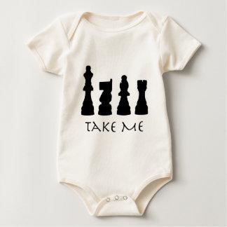 Take me Chess Pieces Baby Bodysuit