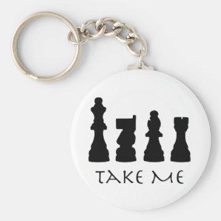Take me Chess Pieces Key Ring