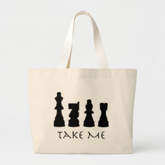 Take me Chess Pieces Large Tote Bag