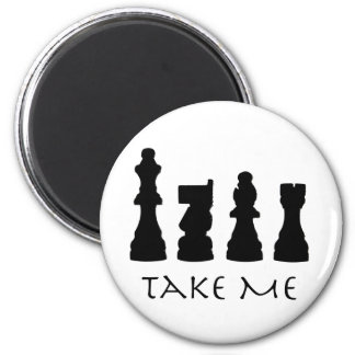 Take me Chess Pieces 6 Cm Round Magnet