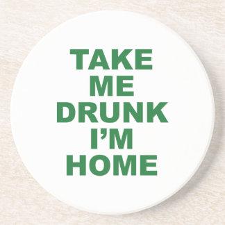 Take Me Drunk I'm Home Beverage Coaster