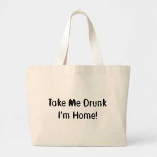 Take Me Drunk I'm Home! Jumbo Tote Bag