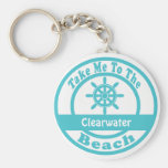 Take Me To Clearwater Beach Basic Round Button Key Ring