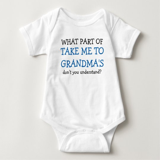 Take Me to Grandma's bestselling baby bodysuit