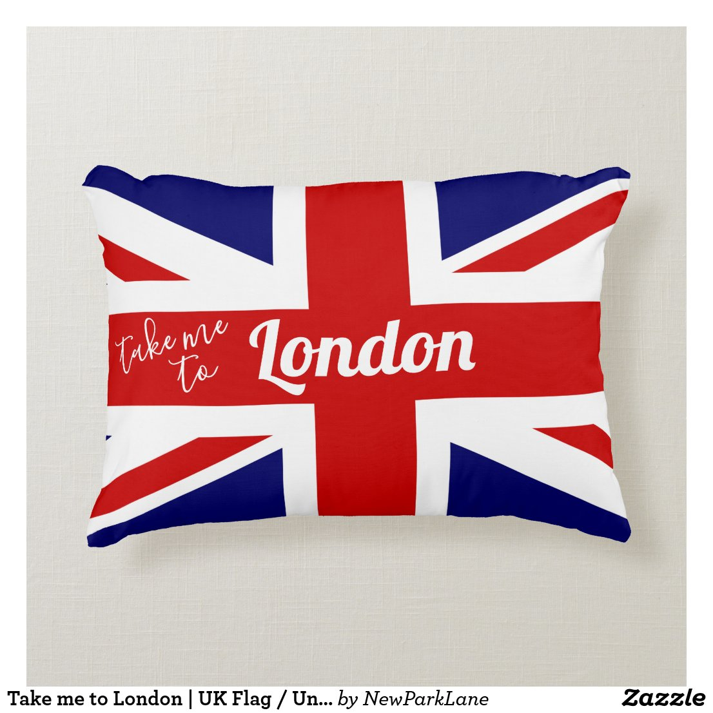 Take me to London | UK Flag / Union Jack Decorative Cushion