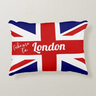 Take me to London | UK Flag / Union Jack Decorative Cushion