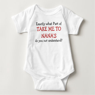 Take Me To Nana's Baby Infant Bodysuit