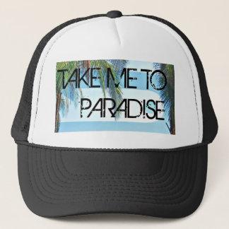 Take Me To Paradise Black Trucker Hat