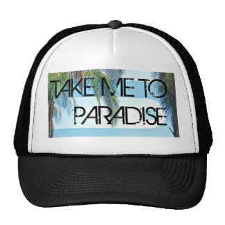 Take Me To Paradise Black Trucker Hat