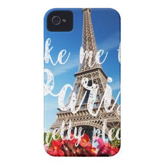 take me to Paris iPhone 4 Case-Mate Case