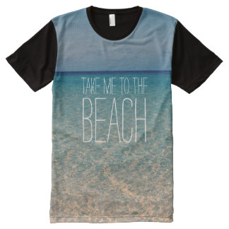 Take Me to the Beach Ocean Summer Blue Sky Sand All-Over Print T-Shirt