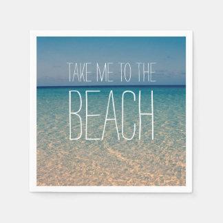 Take Me to the Beach Ocean Summer Blue Sky Sand Disposable Napkin