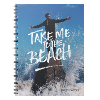 Take Me to the Beach Typography Photo Template Notebook