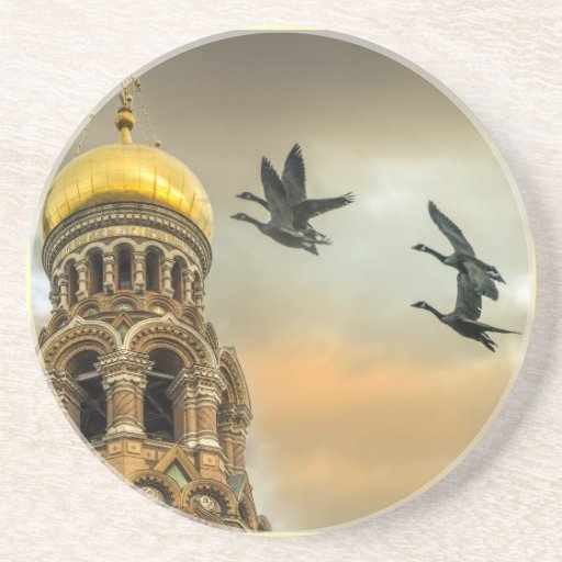 Take me to the Golden Domes Drink Coasters