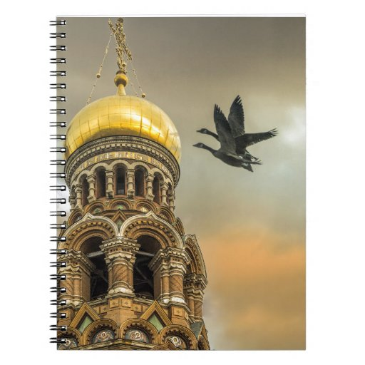 Take me to the Golden Domes Spiral Note Book
