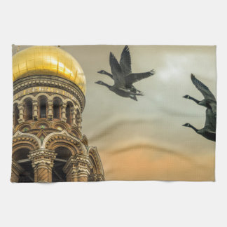 Take me to the Golden Domes Kitchen Towel
