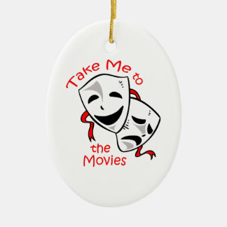TAKE ME TO THE MOVIES CERAMIC OVAL DECORATION