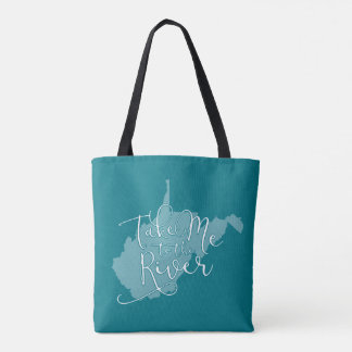 Take Me to the River Colorful Tote