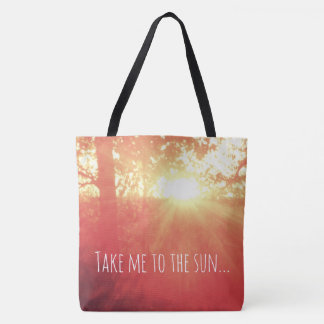 Take me to the sun, lovely tote bag