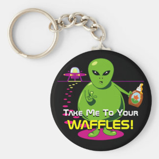 Take Me To Your Waffles! Key Ring