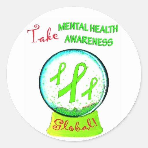 """Take Mental Health Awareness Global"" stickers"