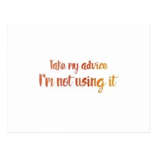 Take My Advice Postcard